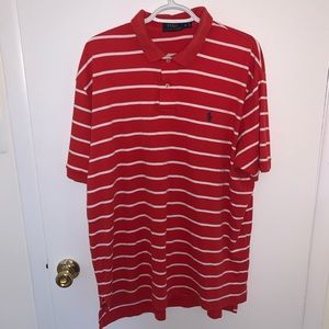 Ralph Lauren Polo XL red white stripe polo Shirt